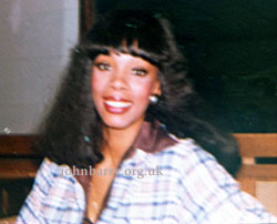 Donna Summer, 1977, recording The Deep, photo Sian Barry