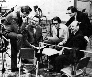 With composer John Barry and others.
