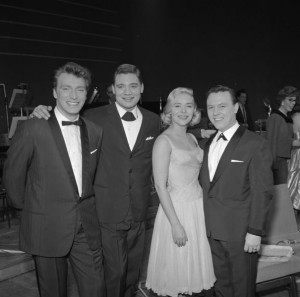 Matt Monro with Frank Ifield, ?, Lorie Mann.