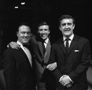 Matt Monro with  Roy Castle, and Bernard Cribbins