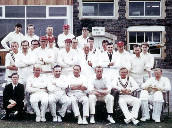 Vassall CC v. The President's XI at The County Ground, Bristol in 1967. Photo by John Saunders.