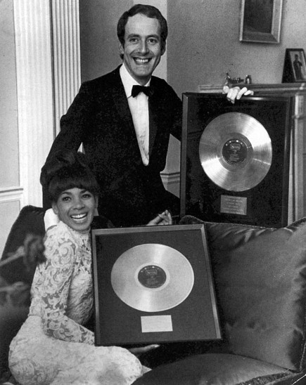Shirley Bassey and JohnBarry - Goldfinger gold discs