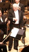 Jerry Goldmsith during one of his last concerts in London.