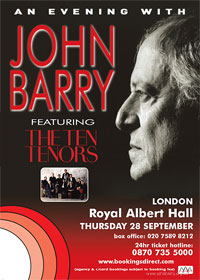 An evening with John Barry featuring The Ten Tenors